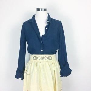 J Crew linen button shirt linen blouse